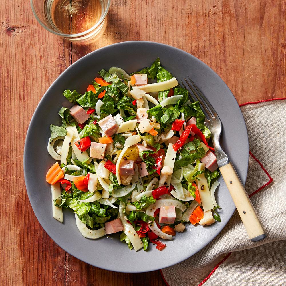 Italian Chopped Salad with Fennel & Mortadella