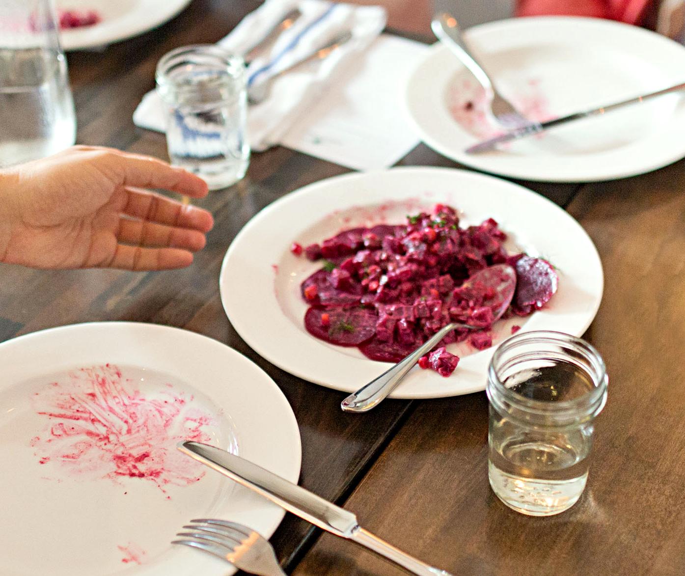 beet gratin dish at emmas torch