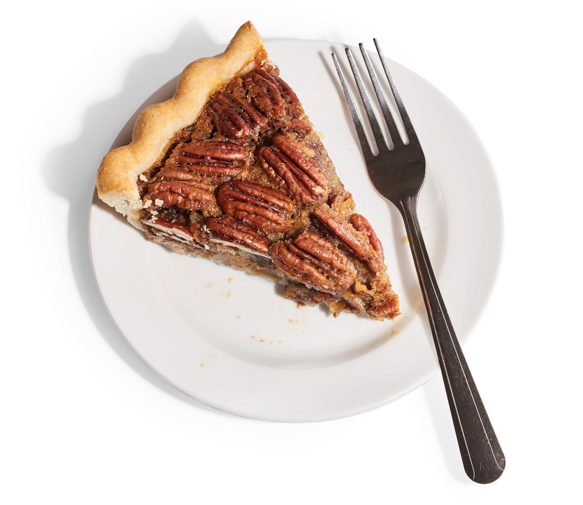 pecan pie on plate