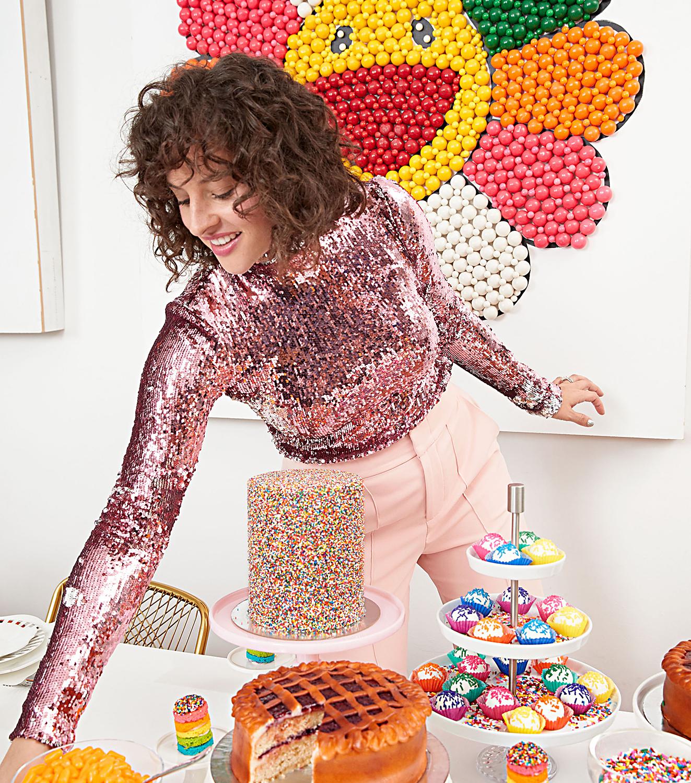 Amirah Kassem at dessert table