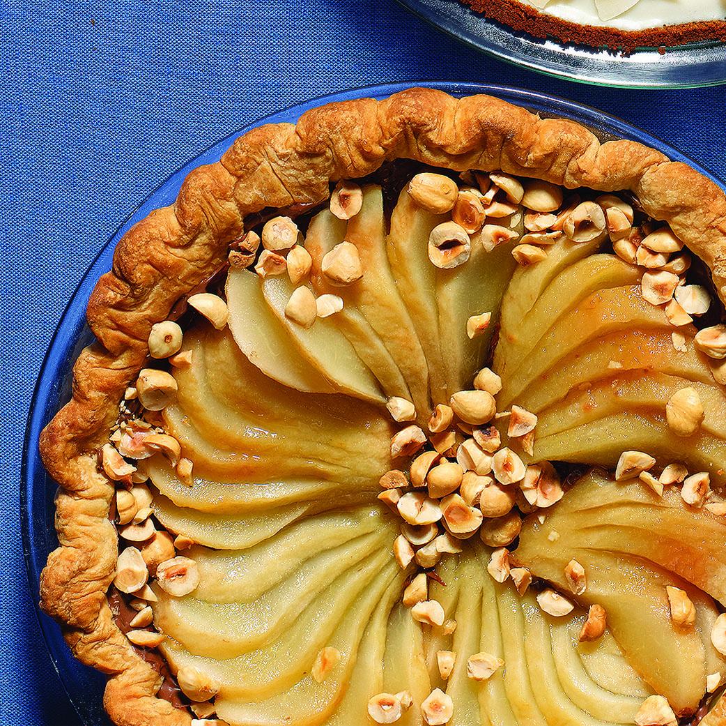 black bottom pear pie
