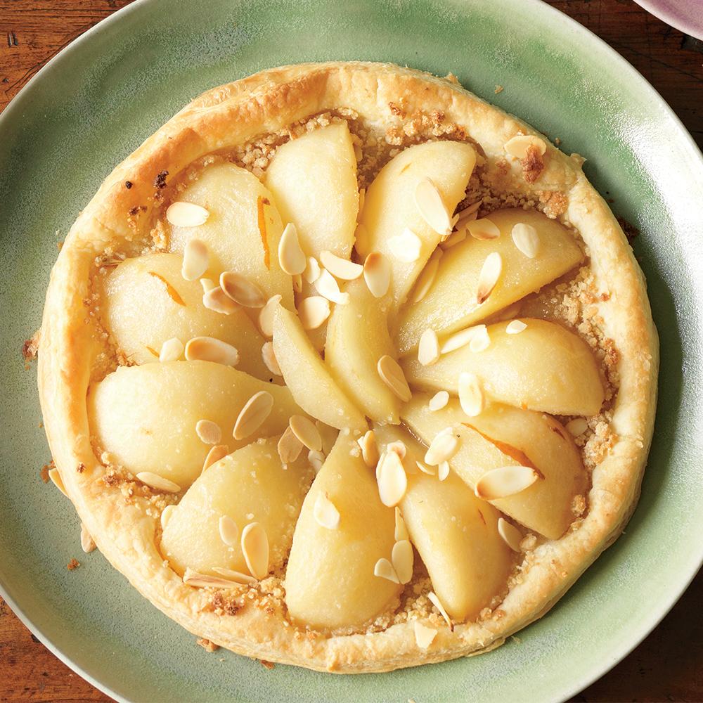 ready-to-bake pear-almond tart