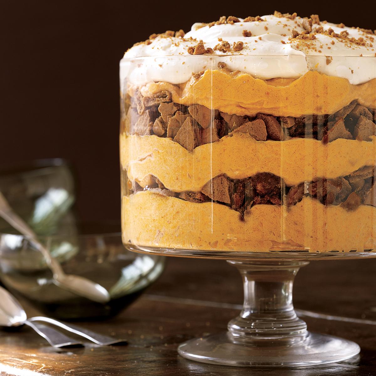 spiced pumpkin mousse trifle