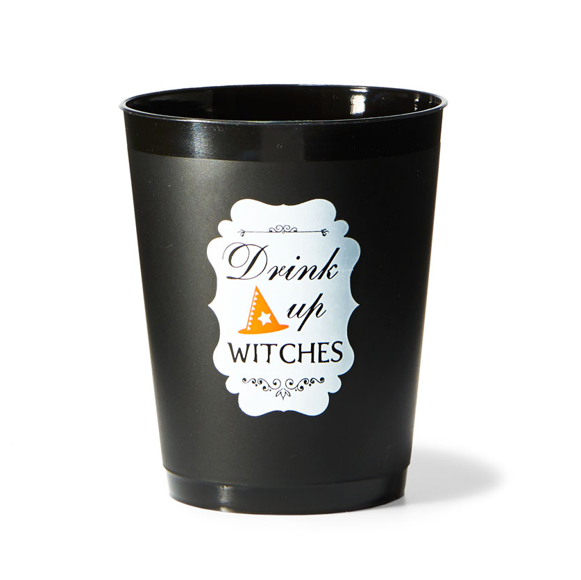 drink up witches plastic cups