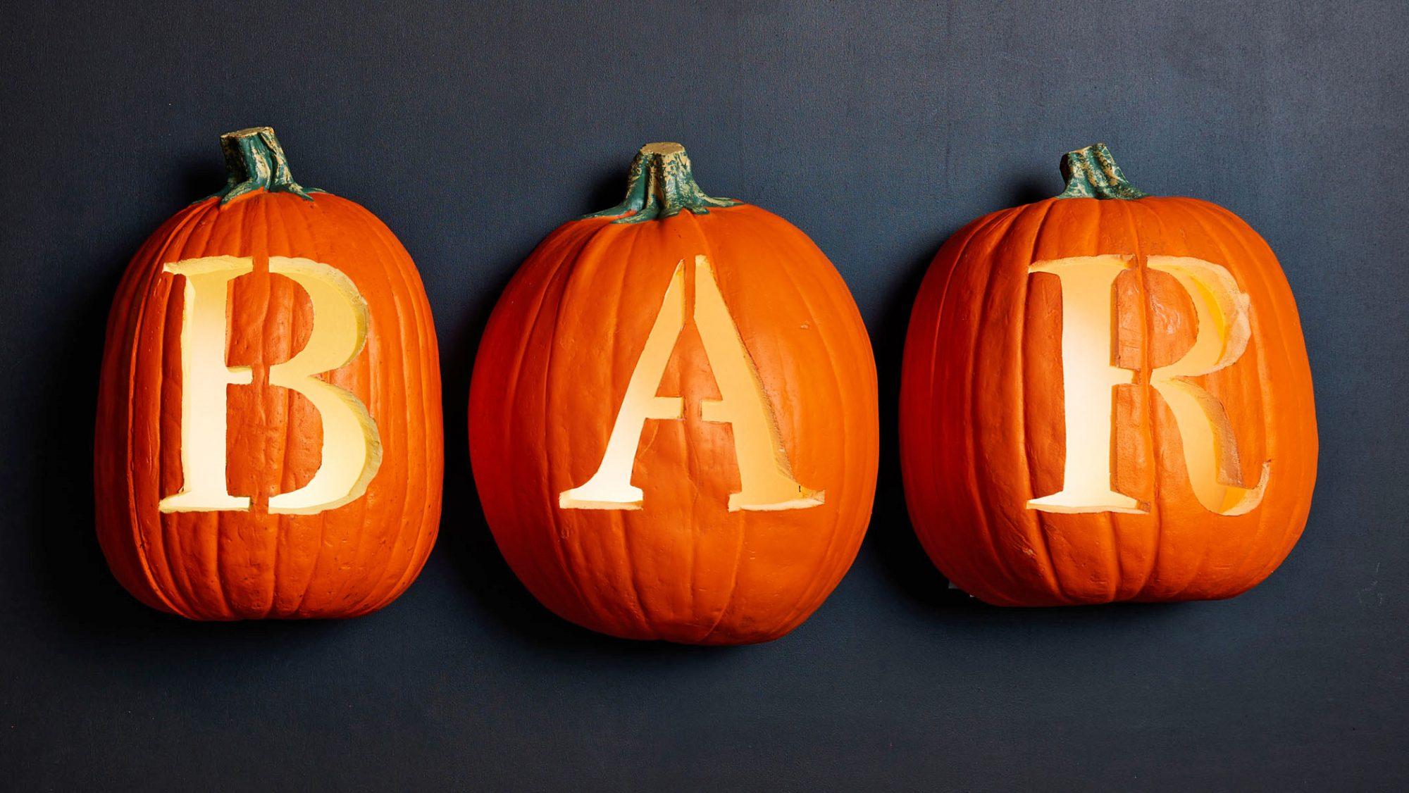 pumpkins carved bar
