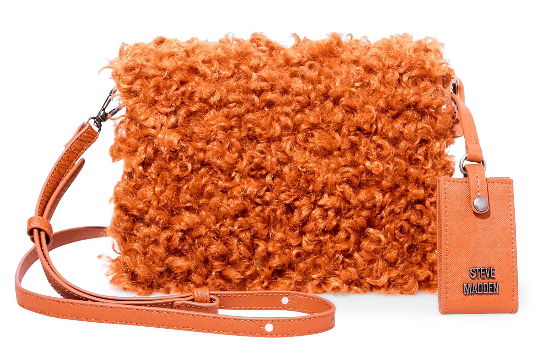 orange shaggy Steve Madden BKATE Purse