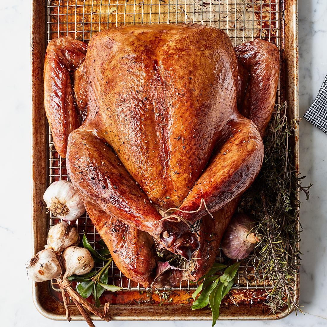 brown sugar brined roast turkey