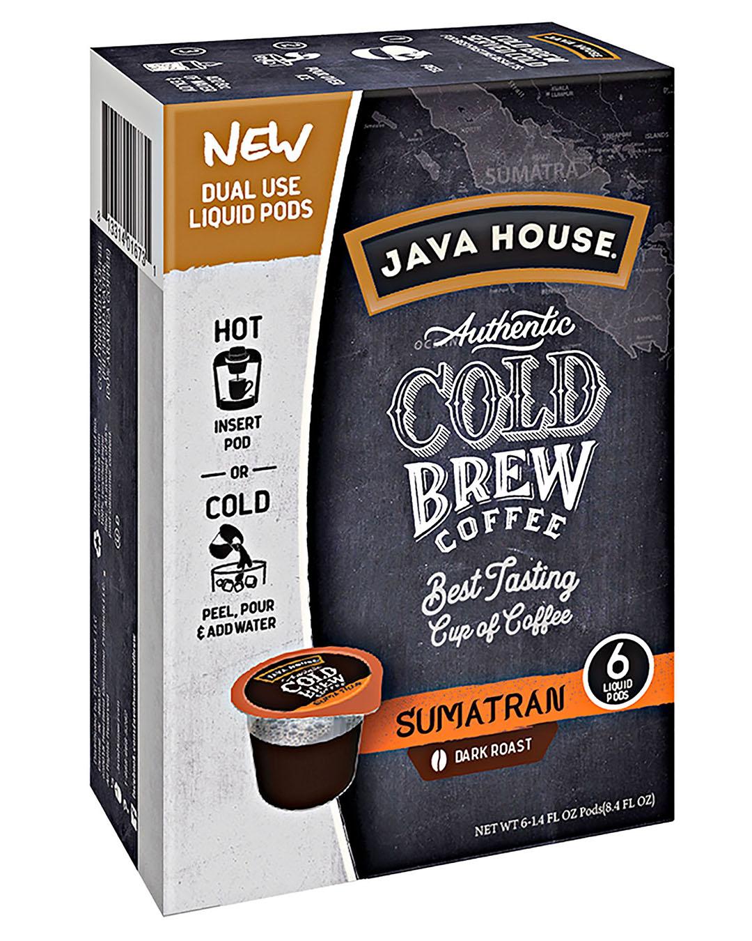 java house sumatran cold brew coffee dual use liquid pods