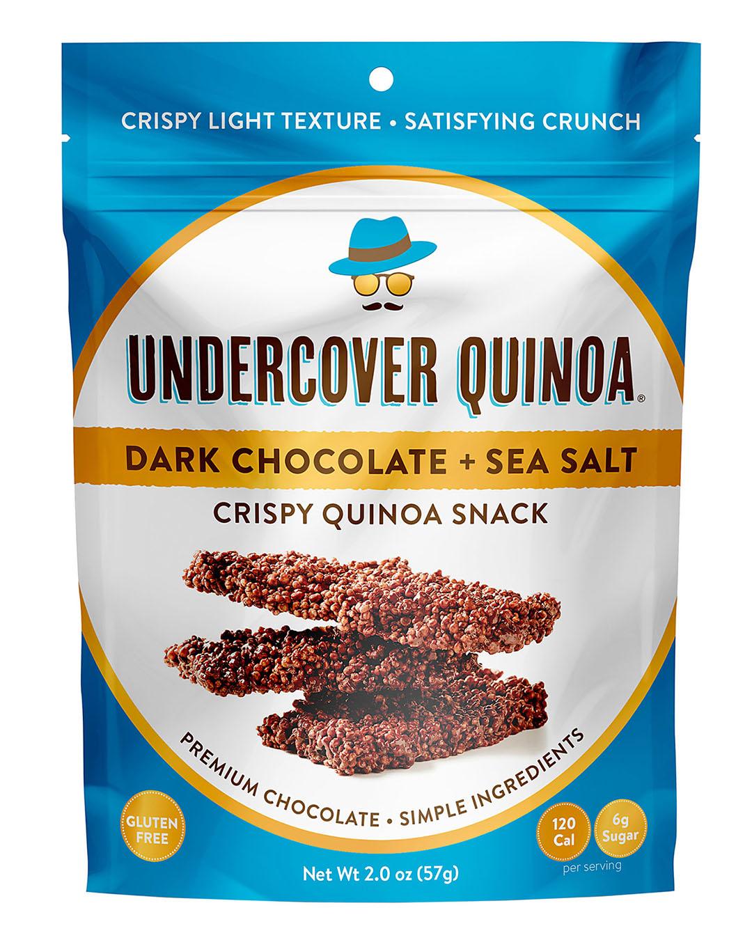 undercover quinoa dark chocolate and sea salt snack