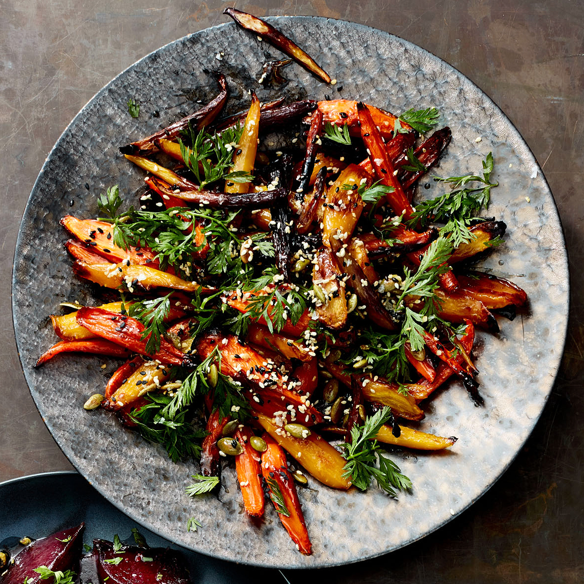 roasted carrots with everything bagel seasoning