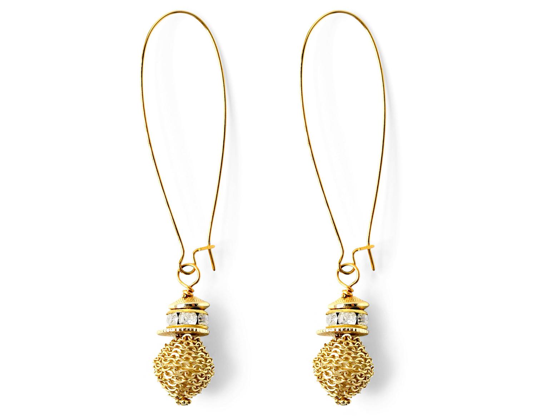 gold akola project noel earrings