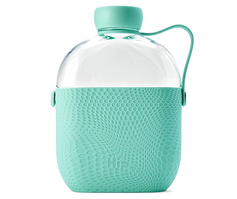 mint bpa-free hip flask-shaped bottle