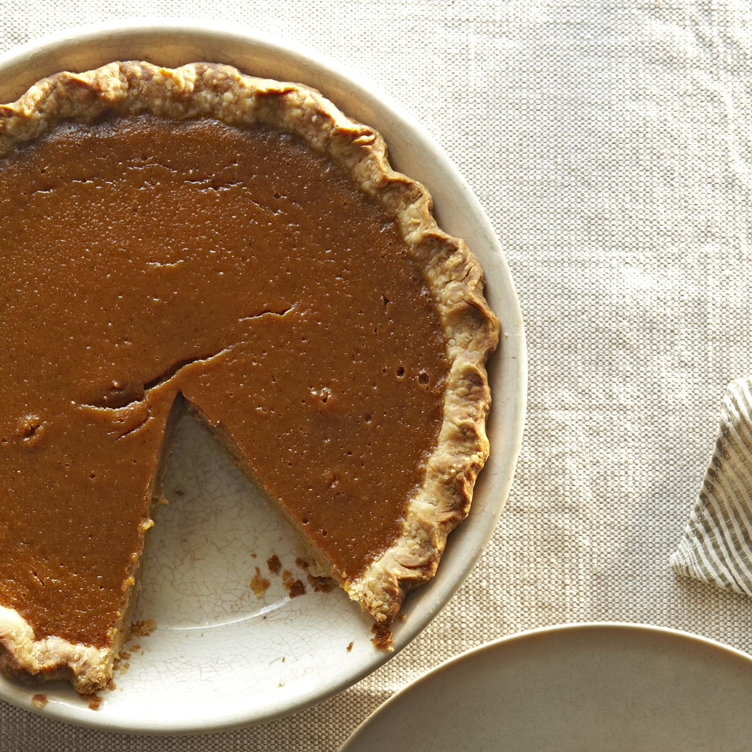 deep-dish pumpkin pie