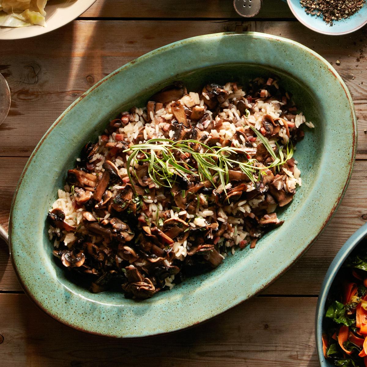herbed mushroom rice stuffing