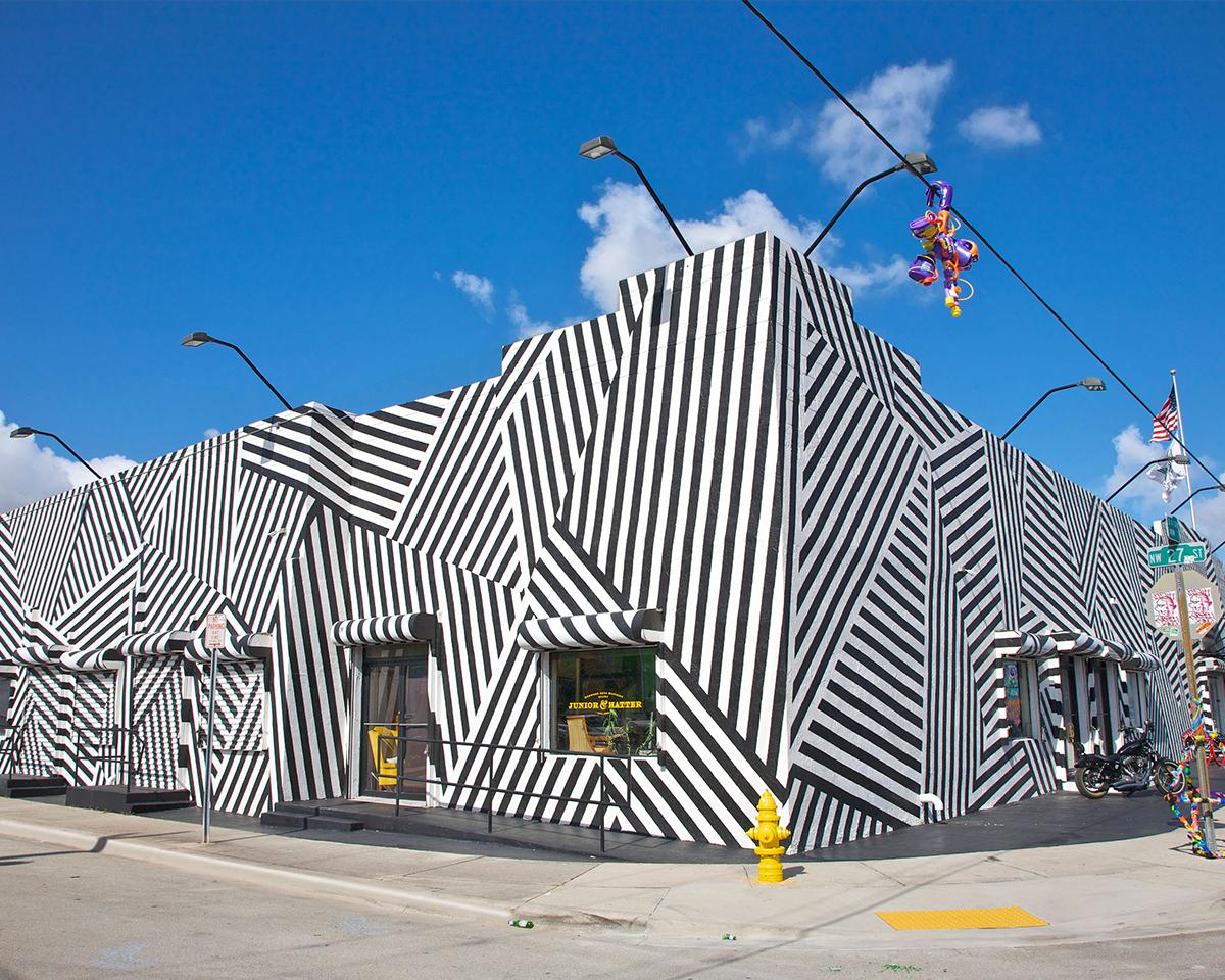 wynwood art district striped building