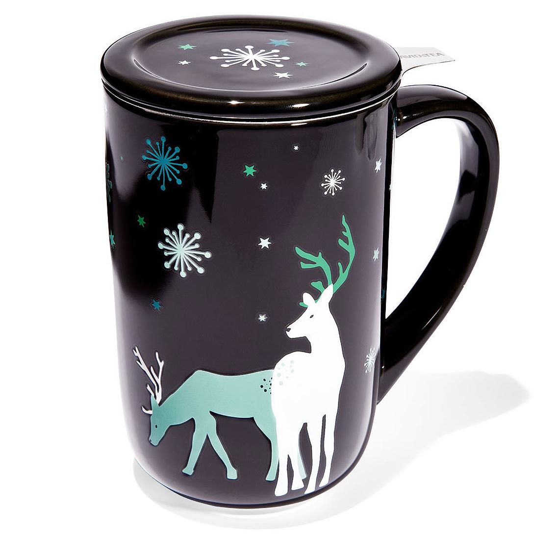 reindeer nordic mug and lid