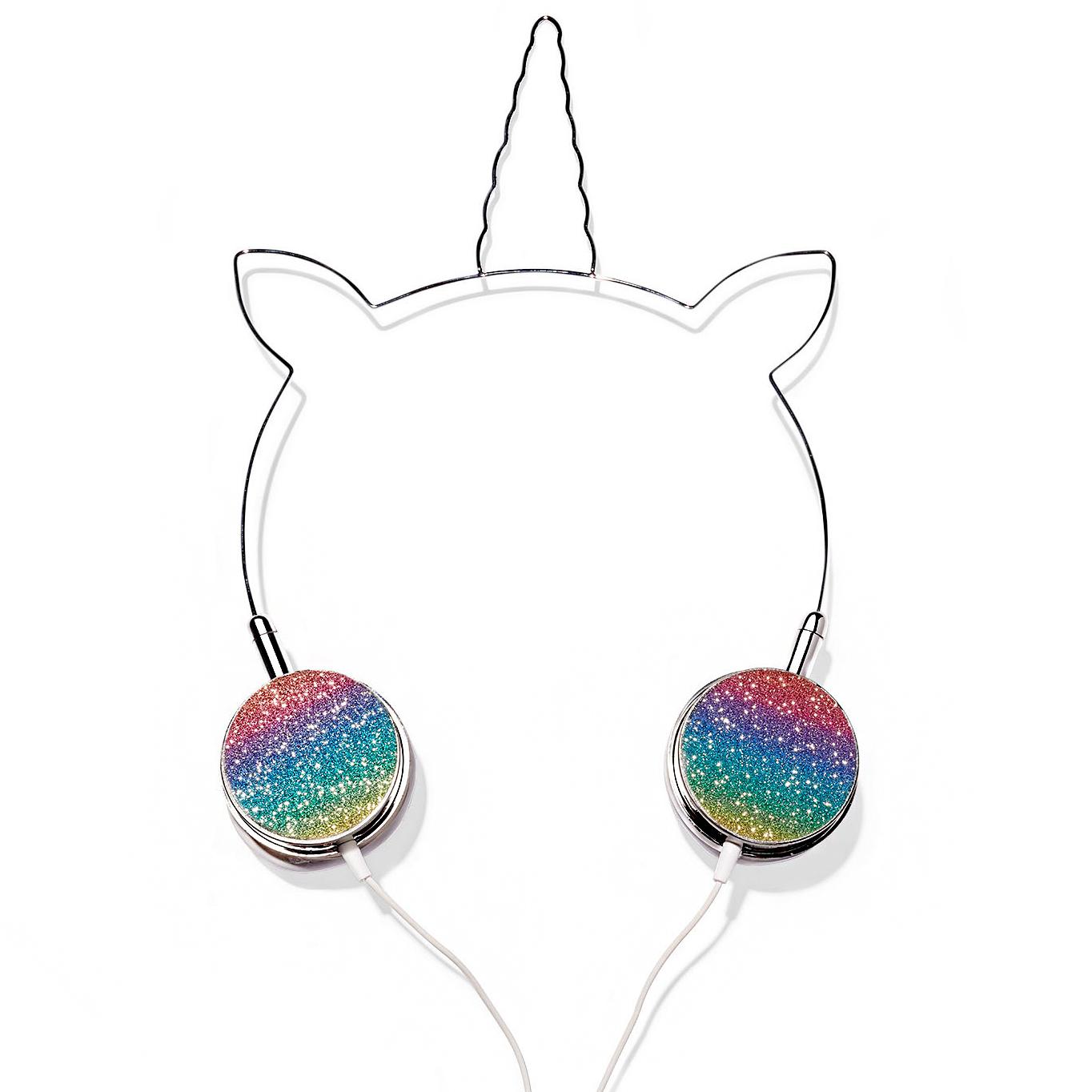 american jewel rainbow glitter headphones