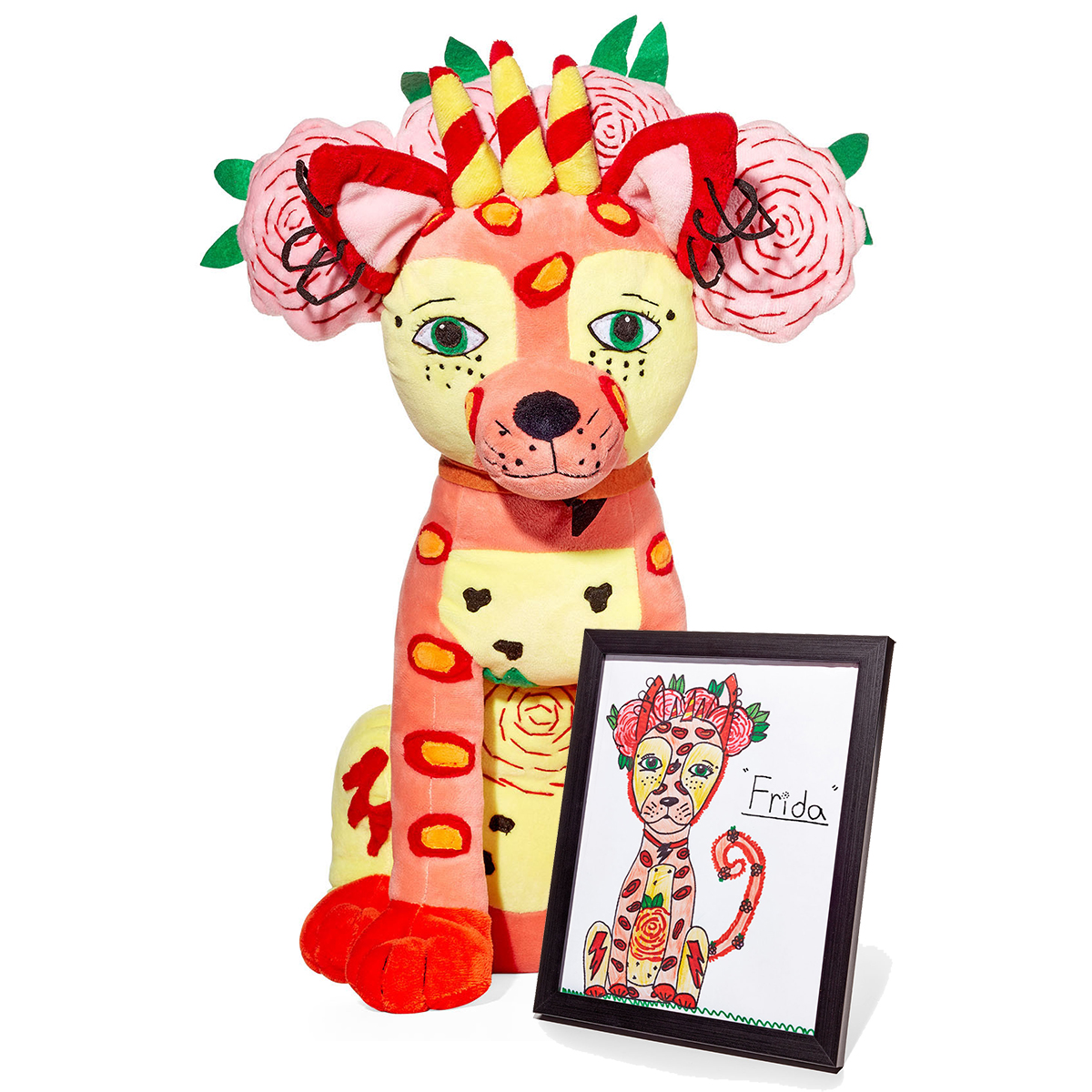 budsies drawing and stuffed animal