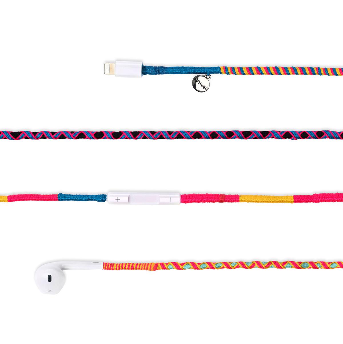 happyness earphones colorful