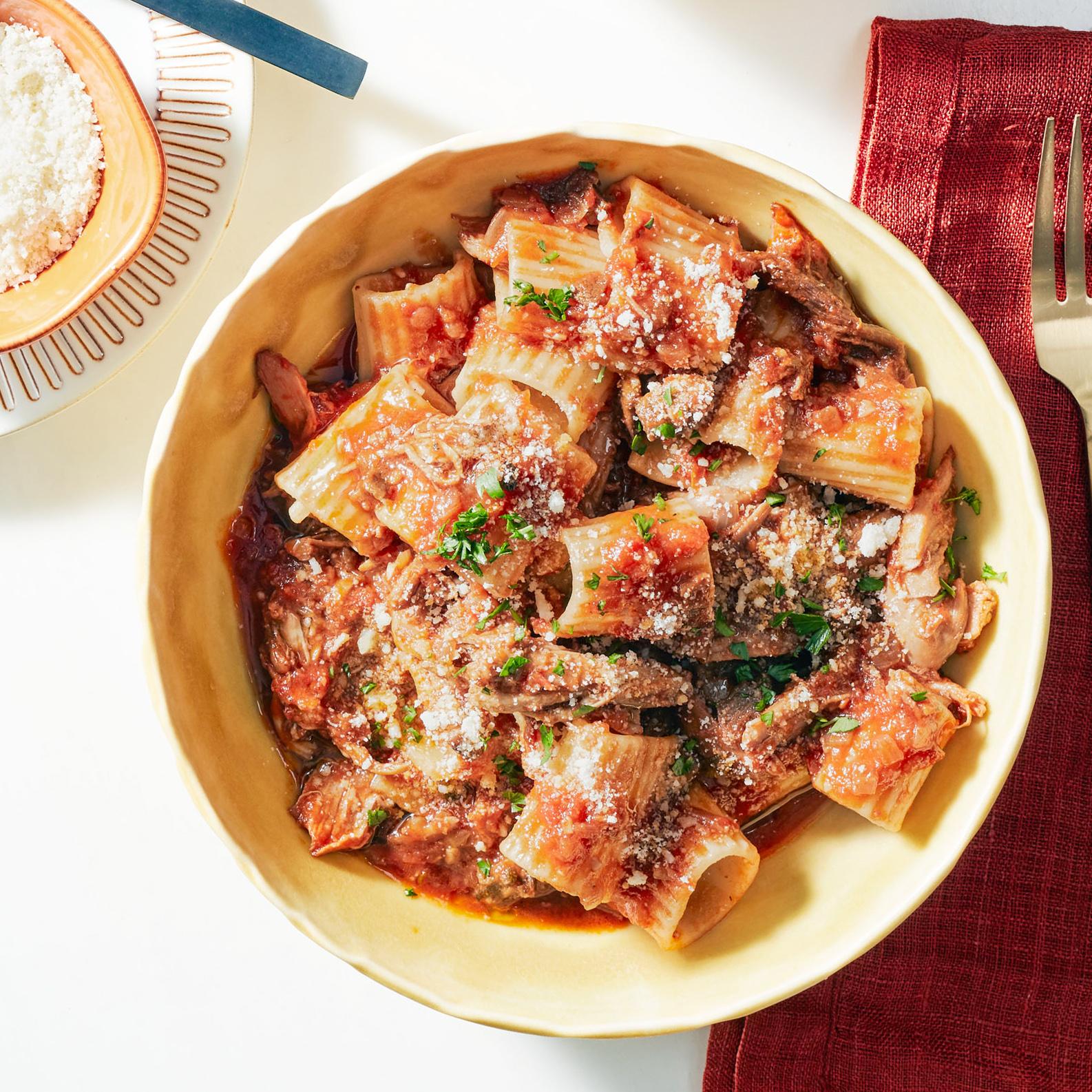 Turkey or Chicken & Porcini Ragu