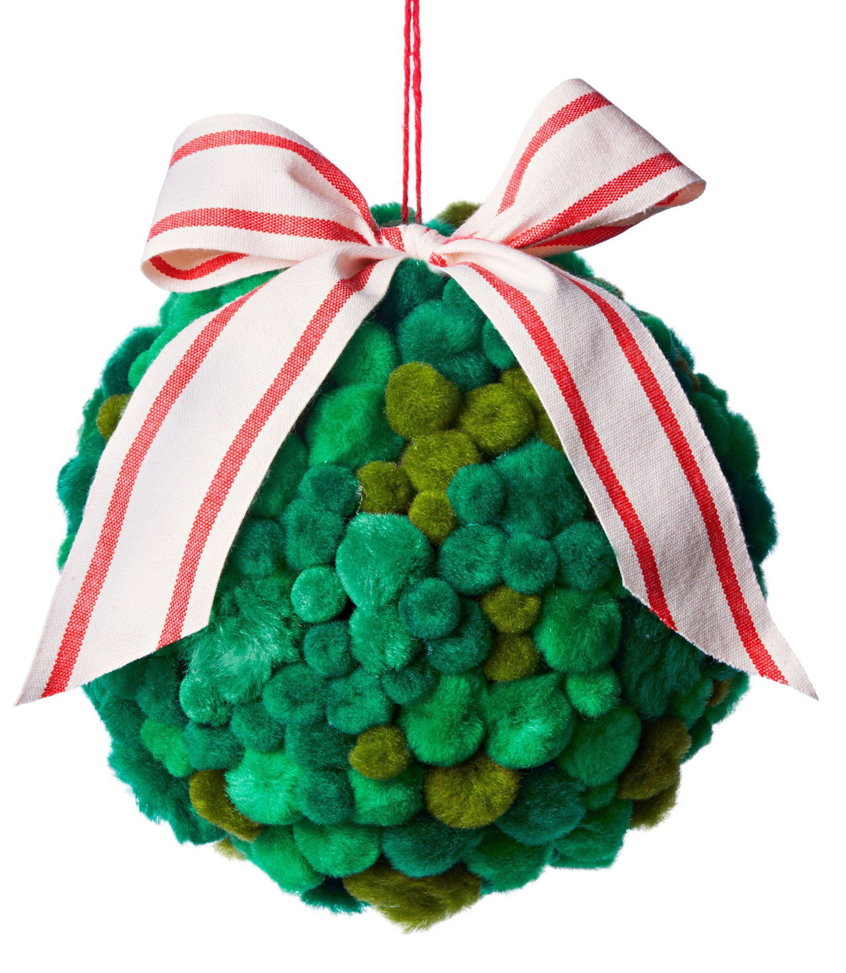 holiday ornament with ribbon