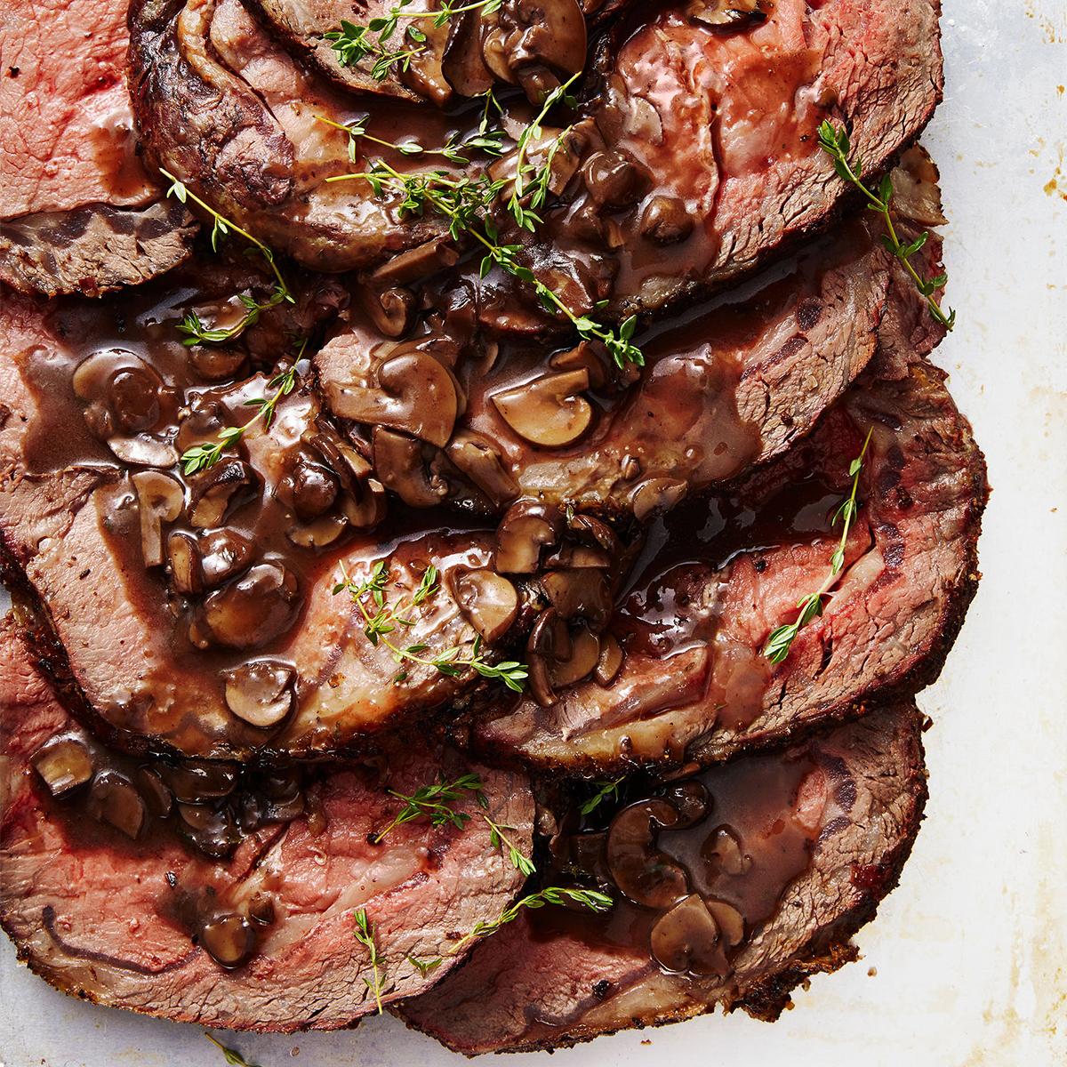 Porcini Prime Rib with Mushroom Gravy