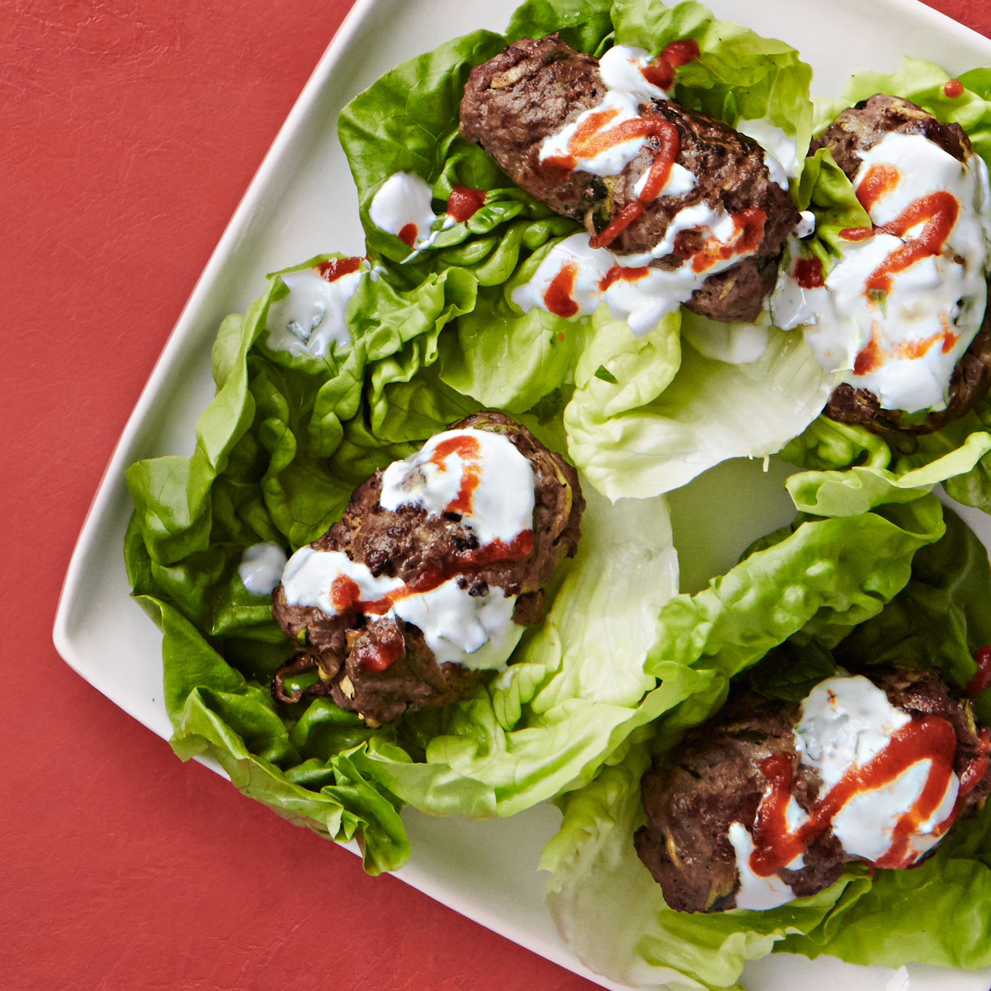 Beef & Zucchini Lettuce Wraps