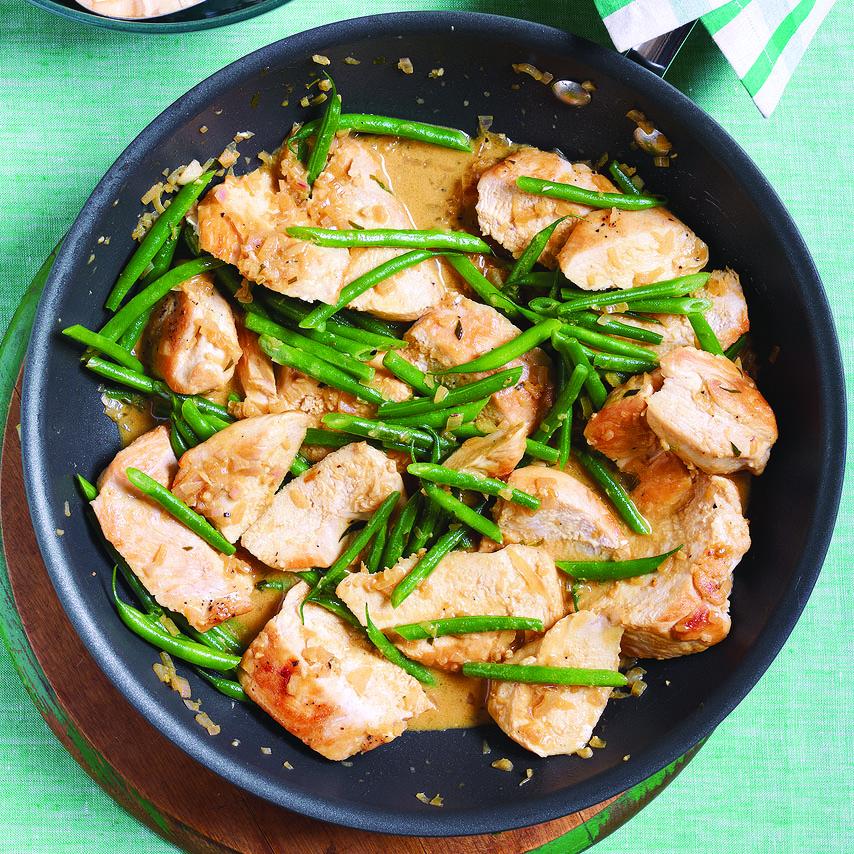 Creamy Dijon-Tarragon Chicken with Rice Pilaf