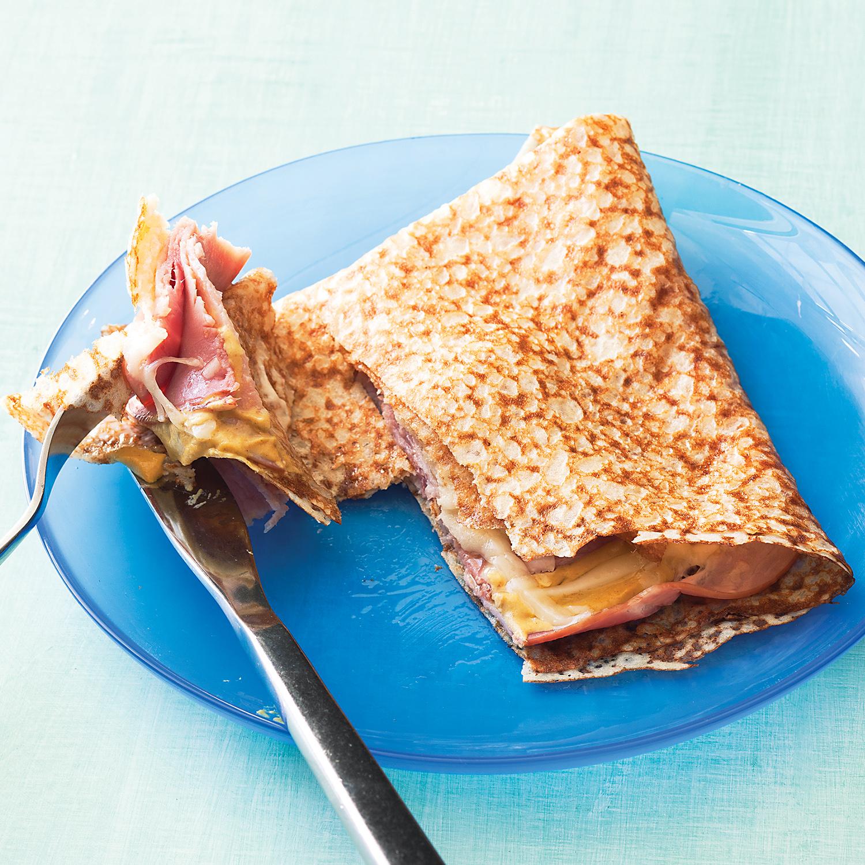 Ham & Cheese Crepes
