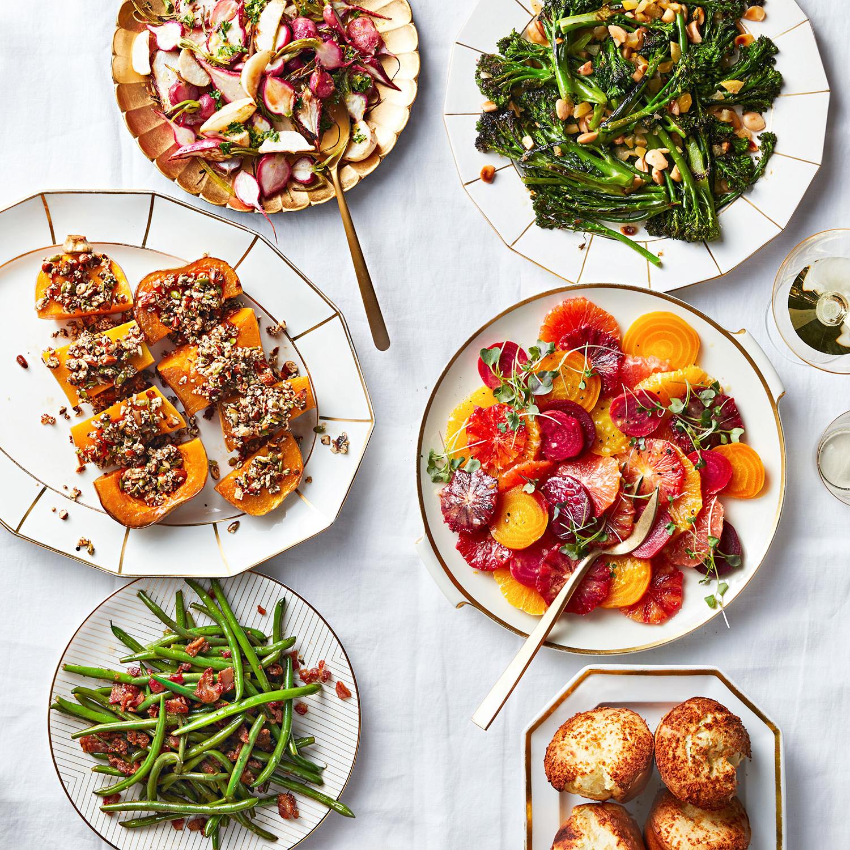 holiday roast sides on table