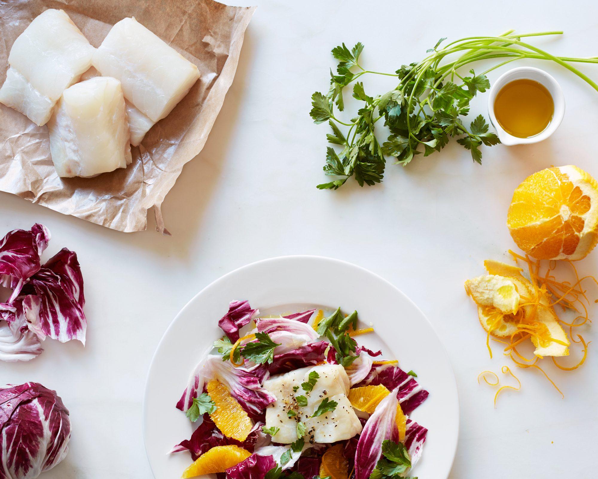 Roasted Cod with Orange & Radicchio
