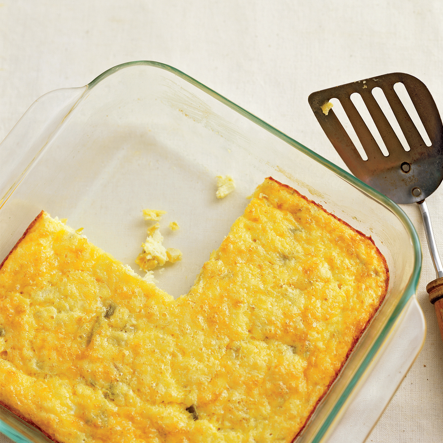 cheddar and chile egg casserole