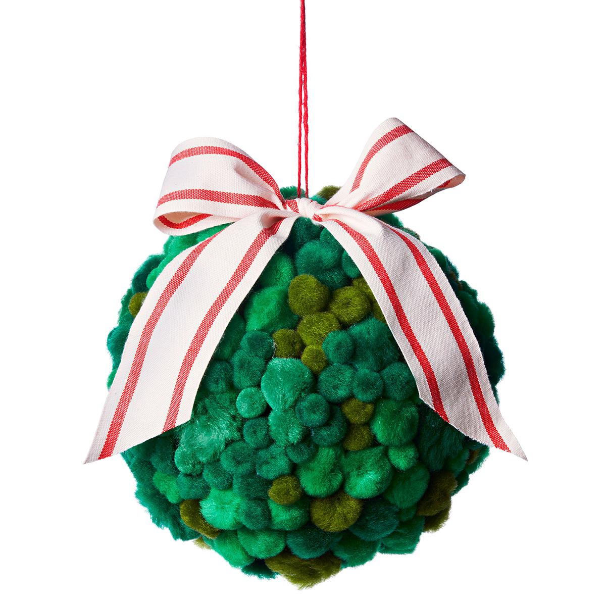 green pom pom mistletoe