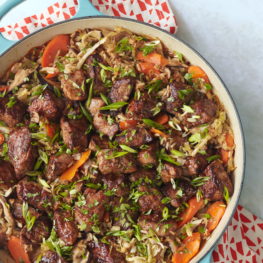 Hoisin-Glazed Pork Mu Shu Casserole