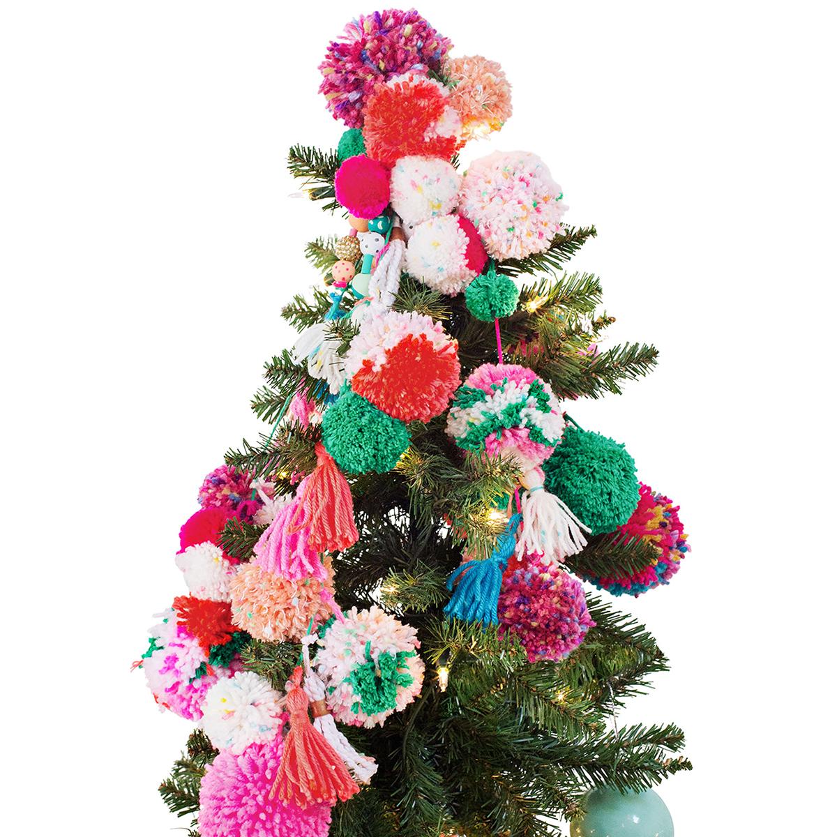pom pom christmas tree topper