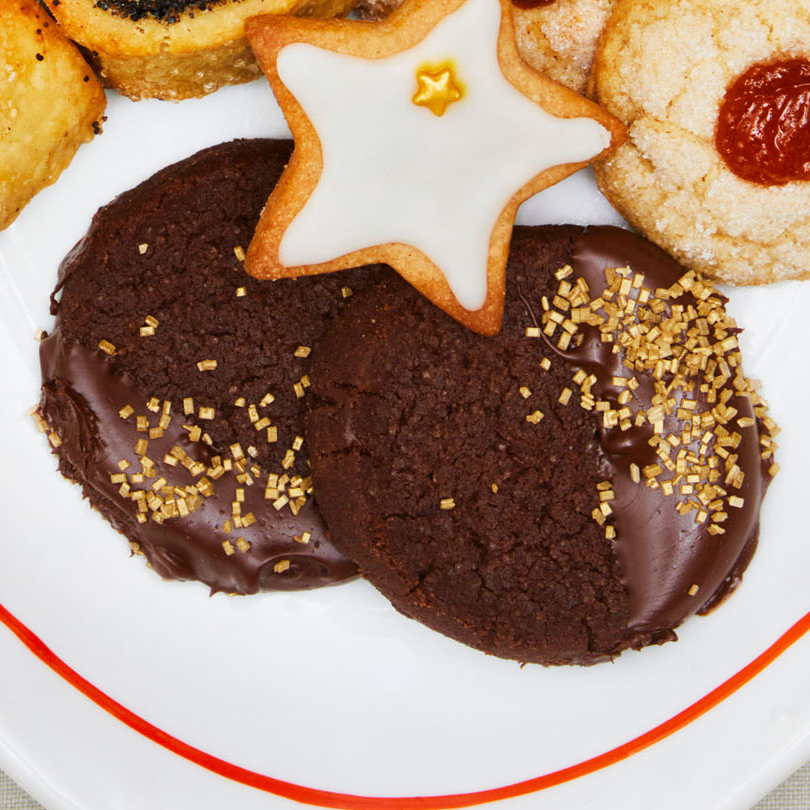 double chocolate dipped shortbread cookies
