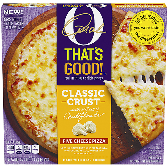 Five Cheese Pizza with a Twist of Cauliflower