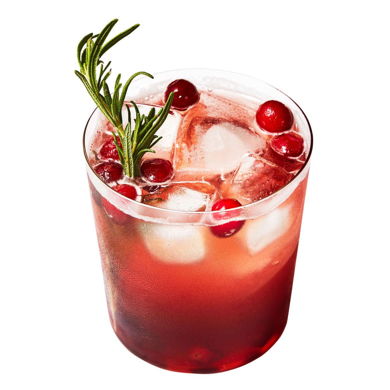 Bourbon-Cranberry Smash