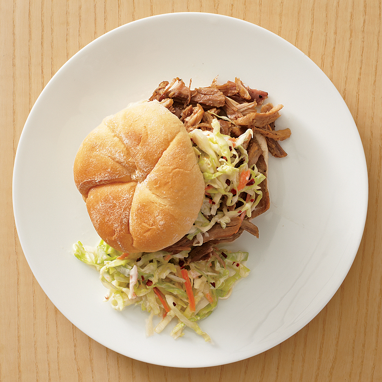 Pulled Pork-and-Slaw Sandwiches