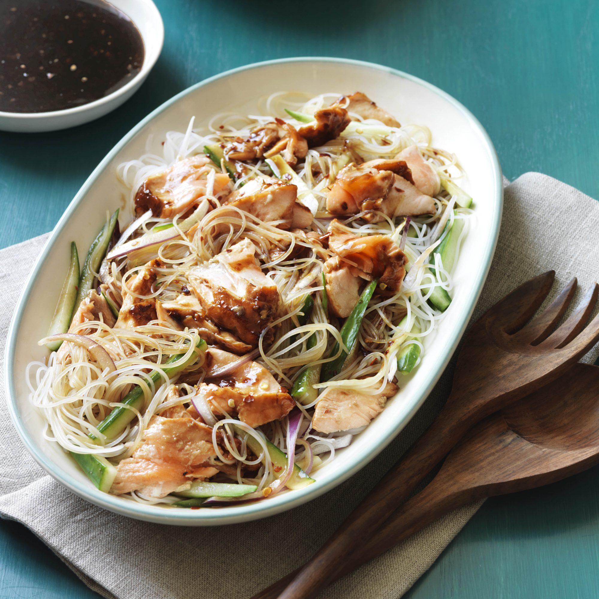 Hoisin-Glazed Salmon Noodle Bowls