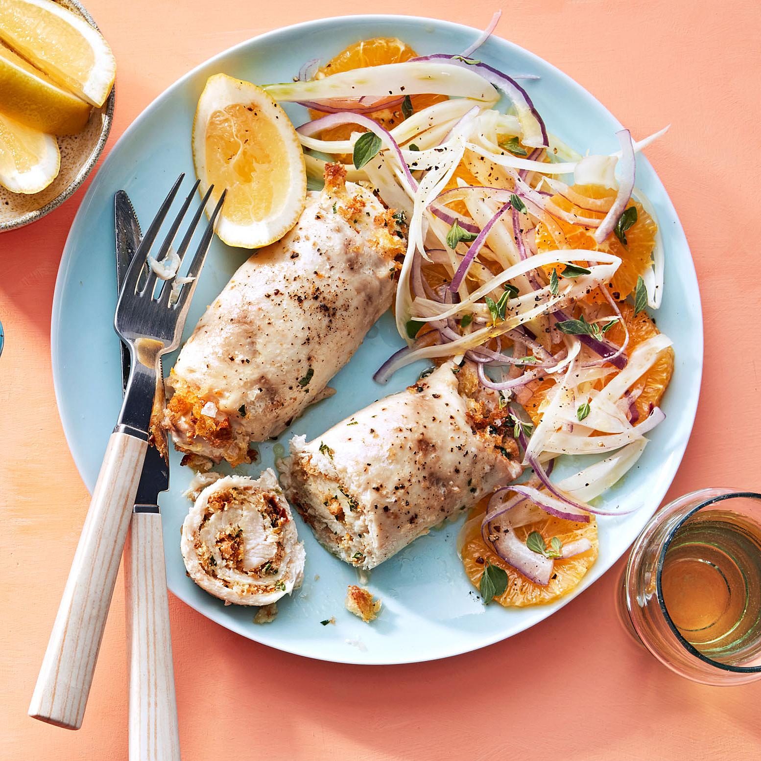 stuffed swordfish rolls