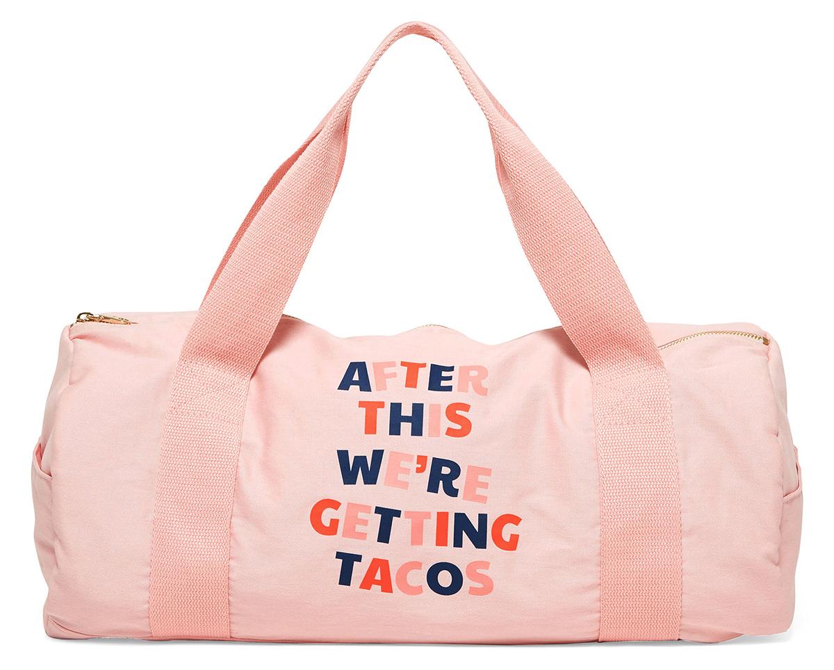 bando pink gym bag