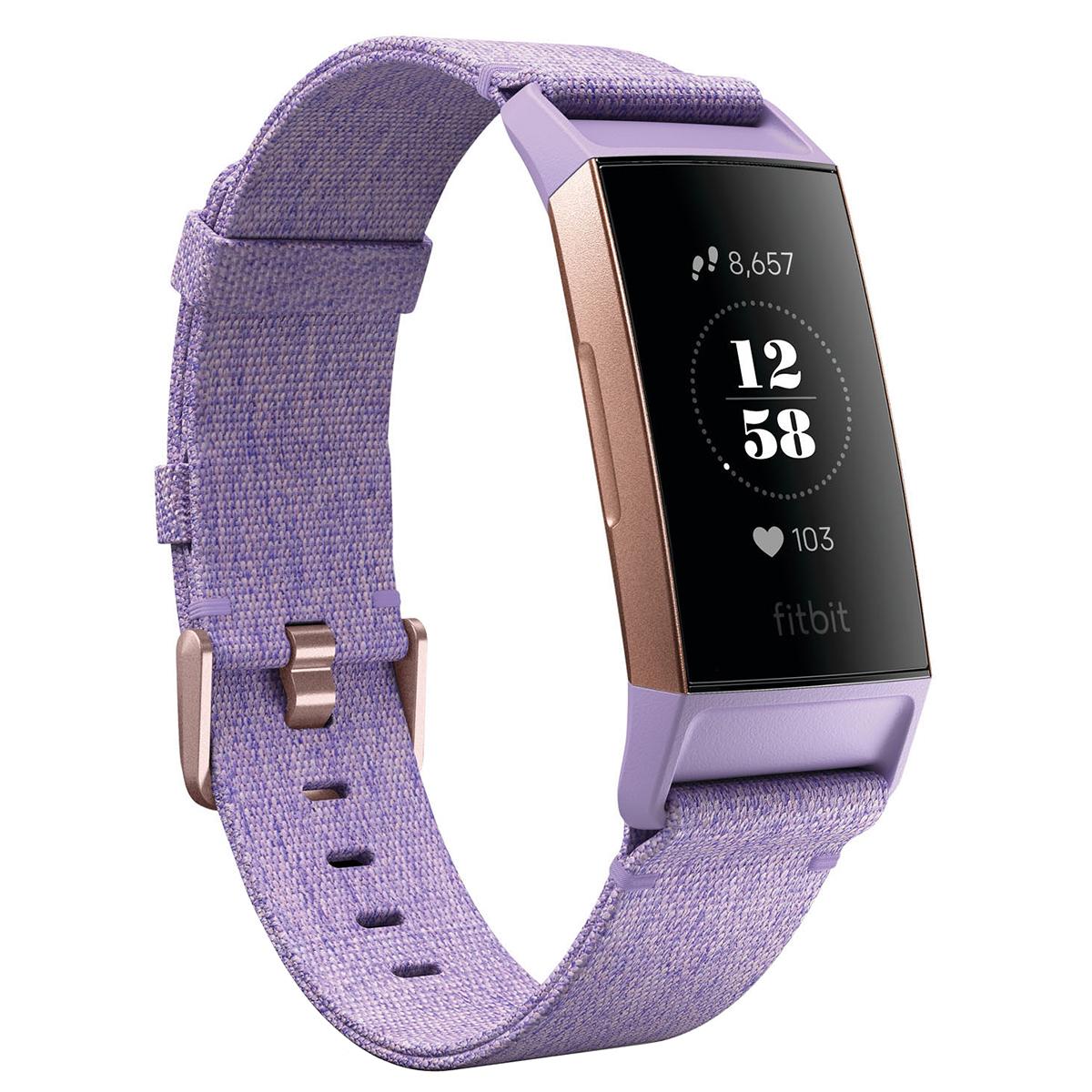 fitbit charge 3 purple wrist watch