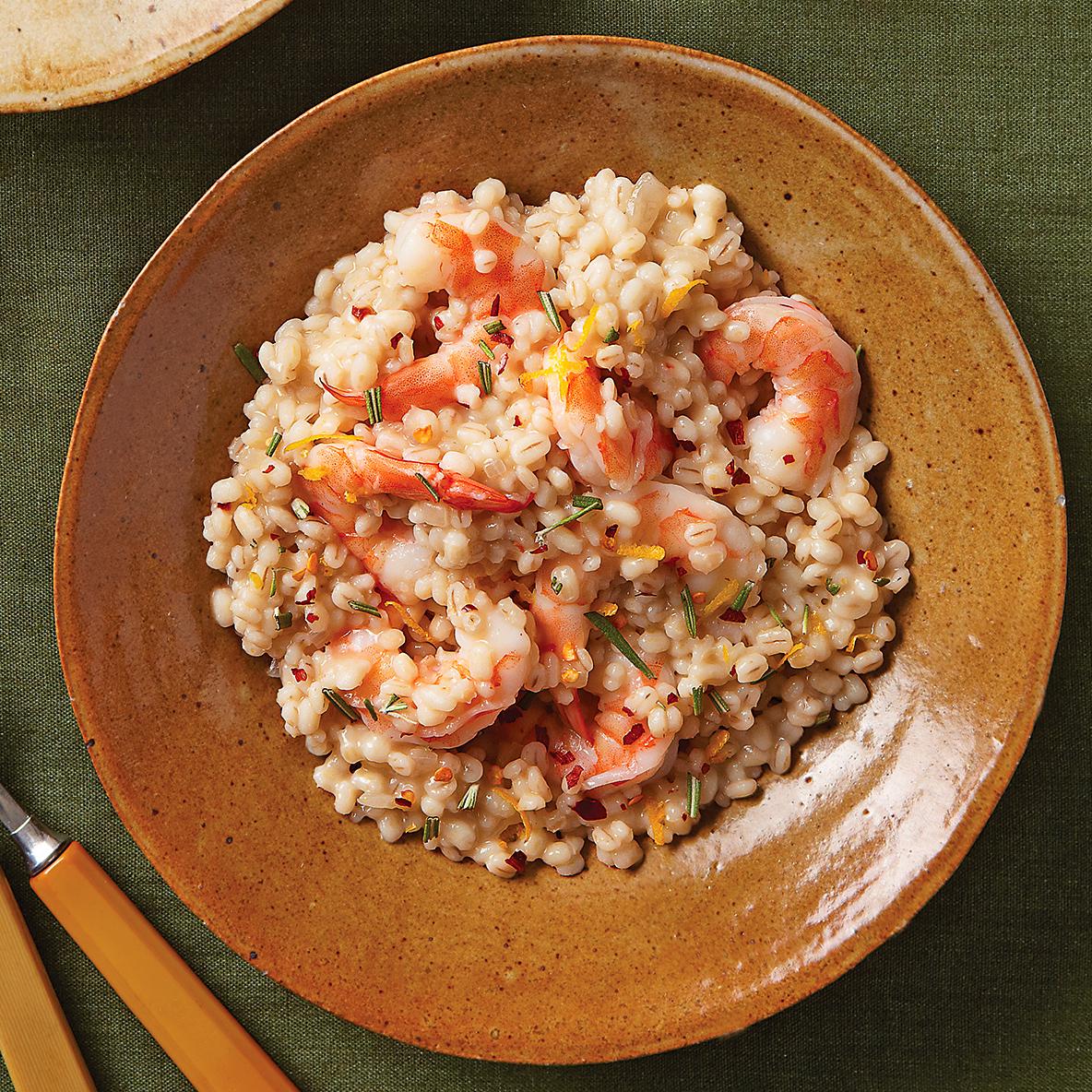 Barley Risotto with Shrimp