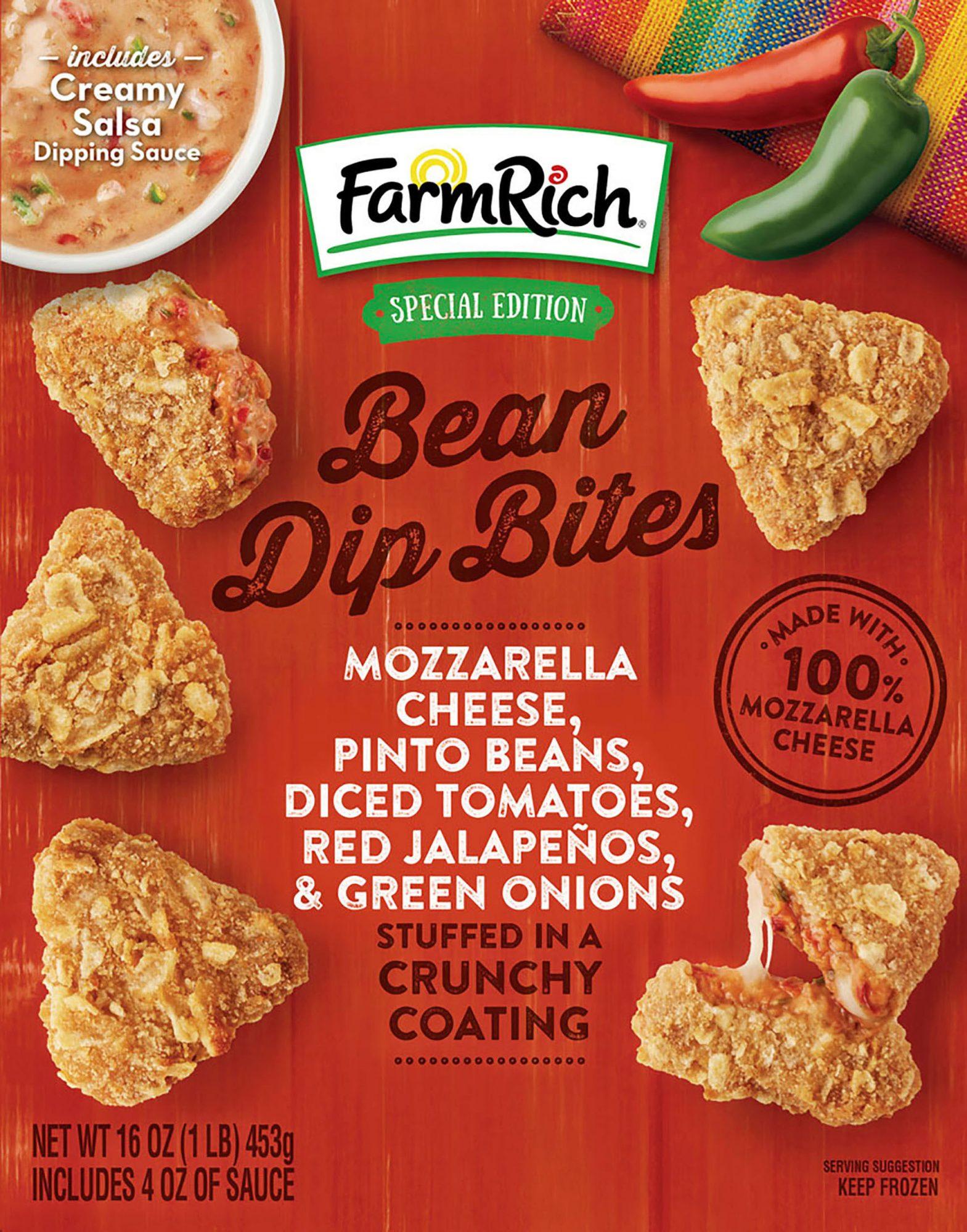 farm rich bean dip bites