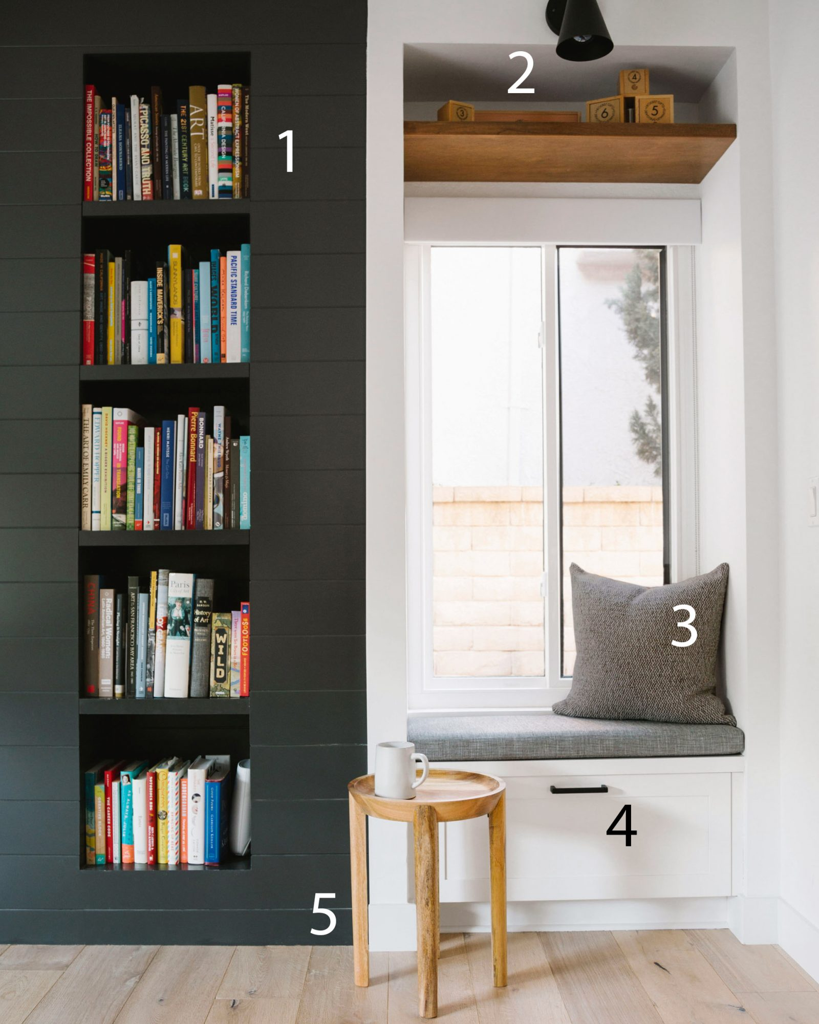 Book Nook Sitting Area Numbered