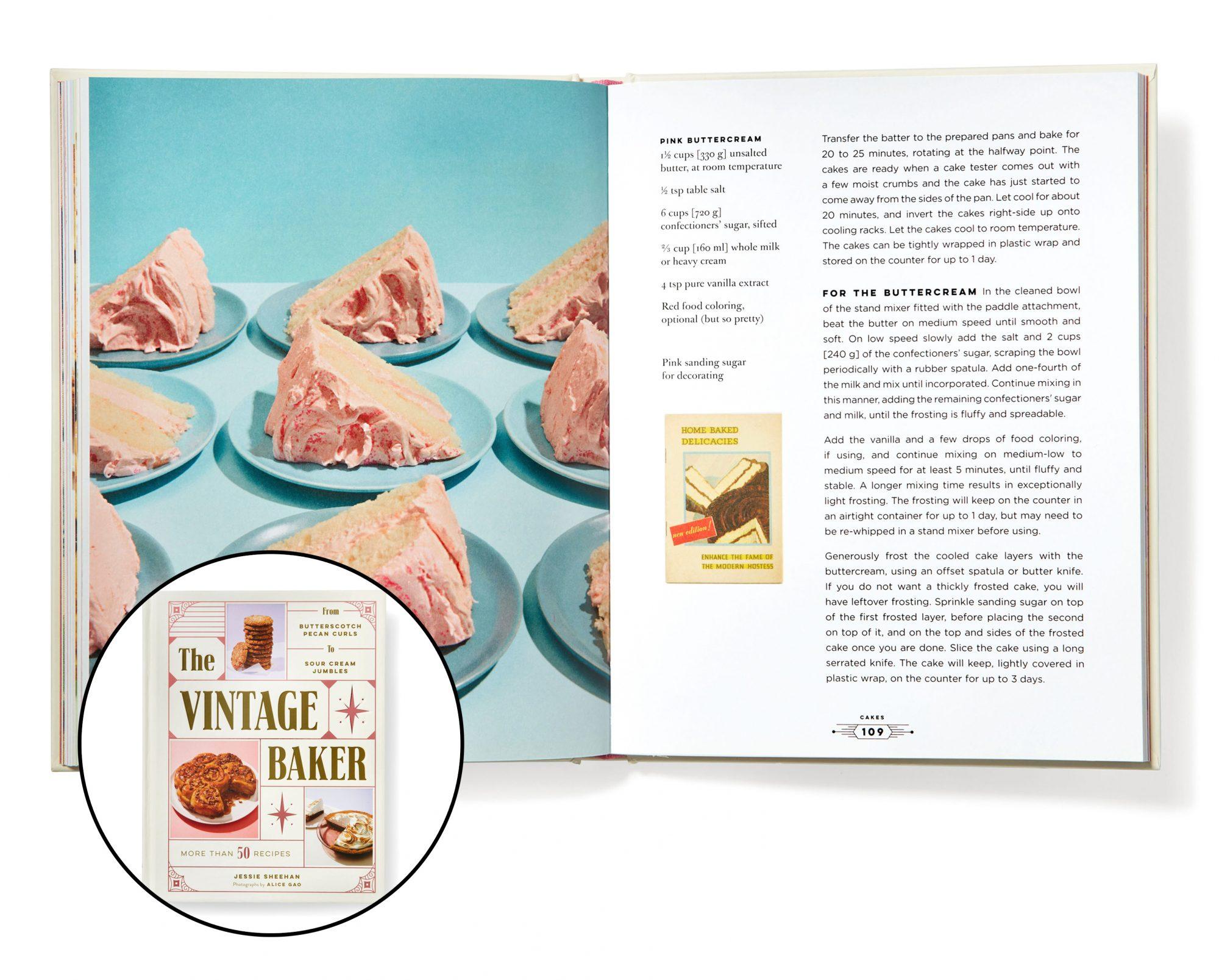 Vintage Bake Cookbook Cover Inset
