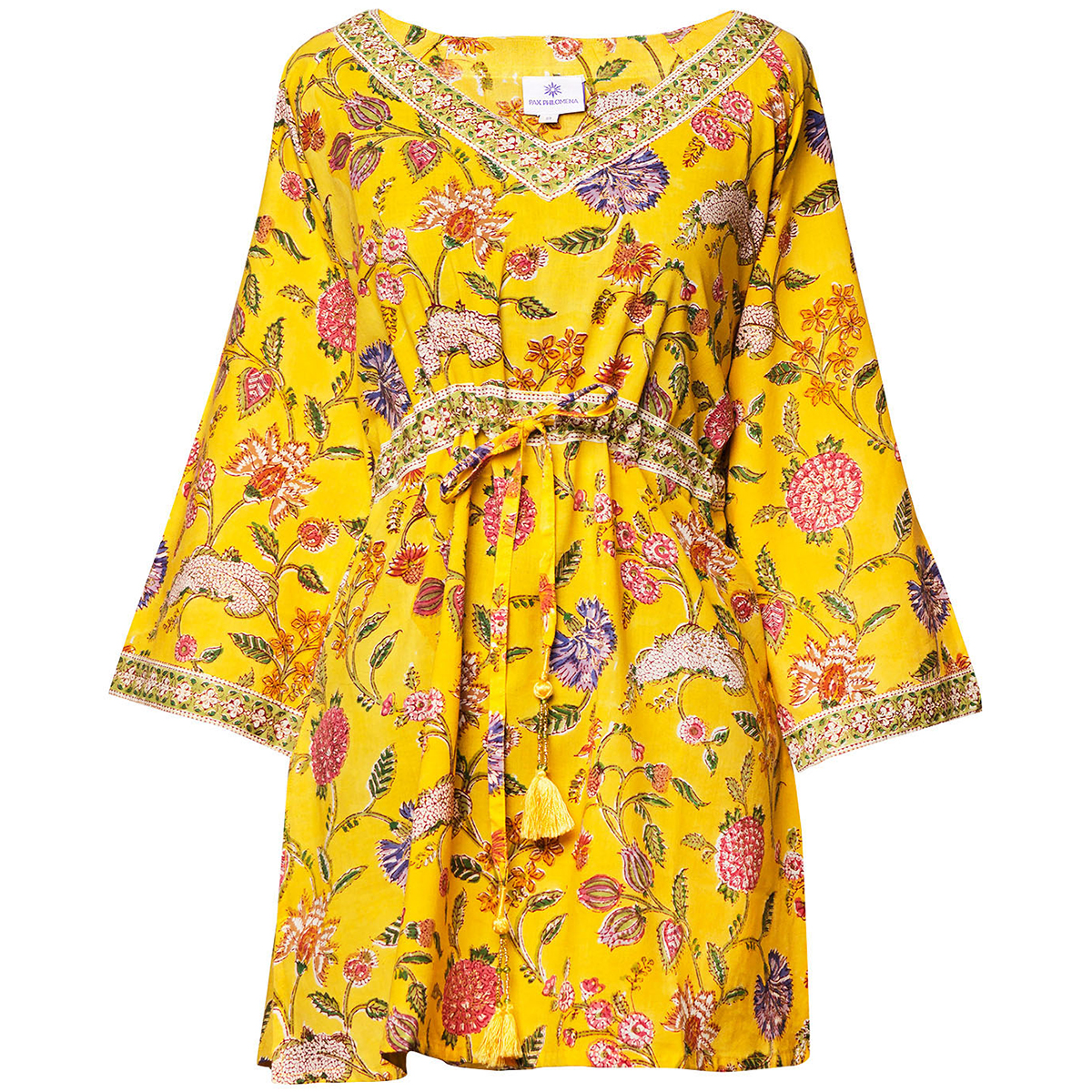 isabella tunic pax philomena yellow with flowers