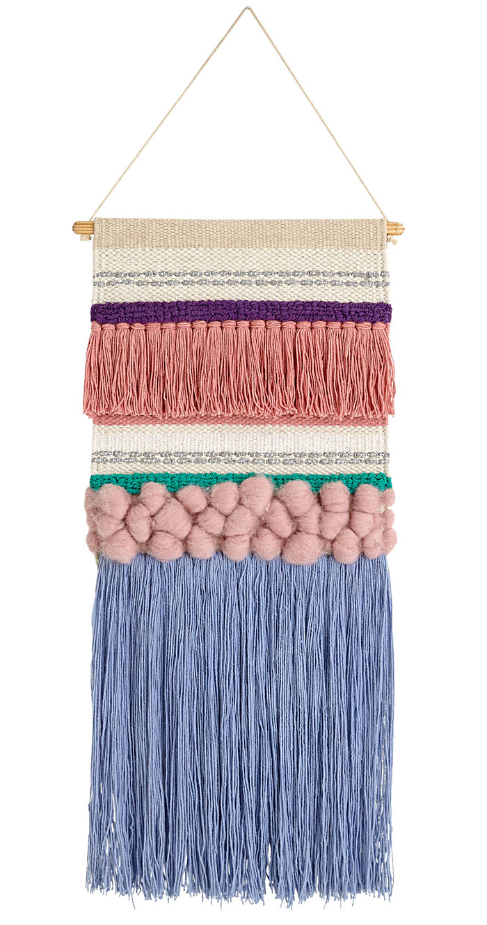 Crate & Kids Textured Woven Wall Hanging