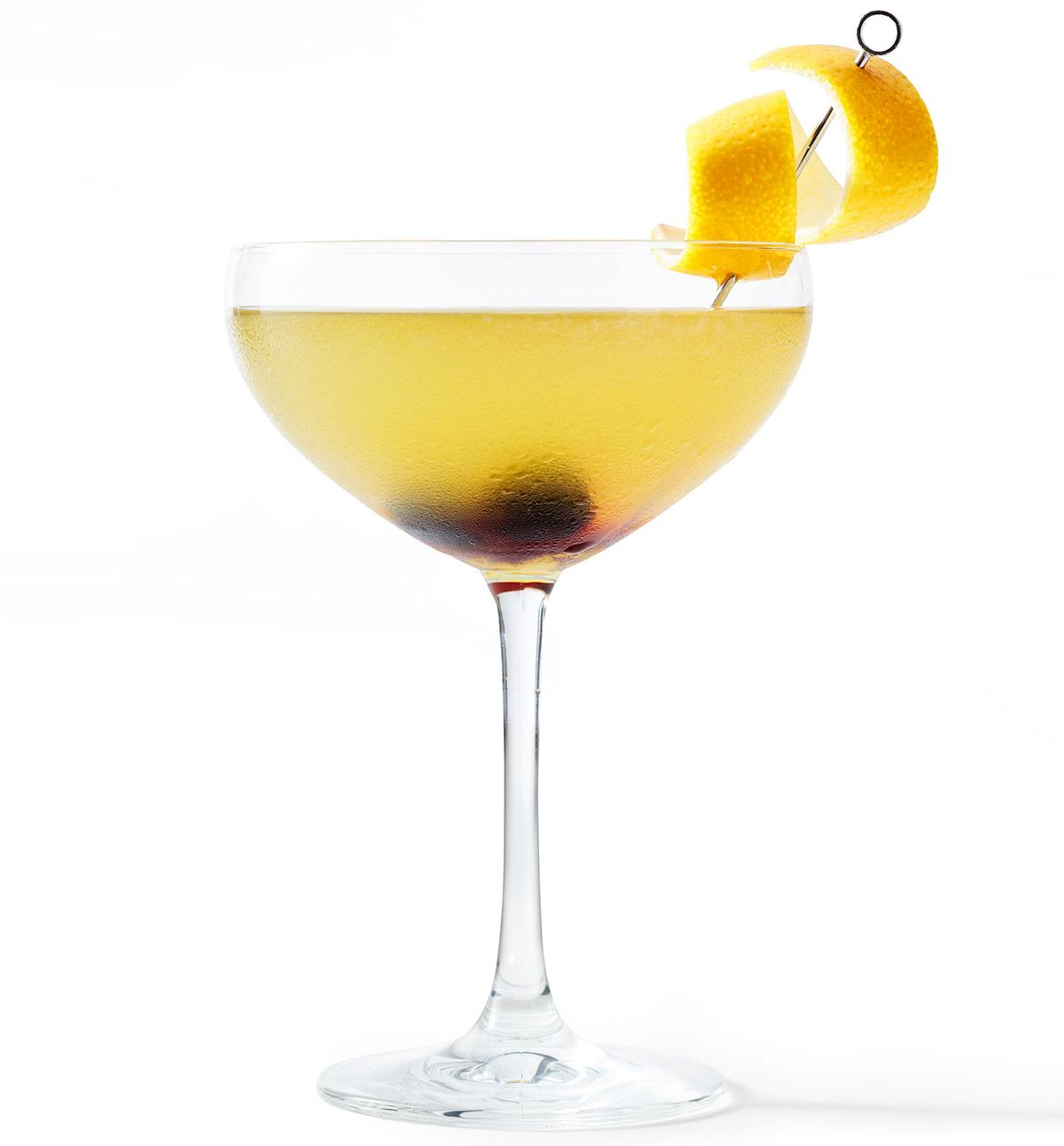 john's james joyce cocktail with peel garnish